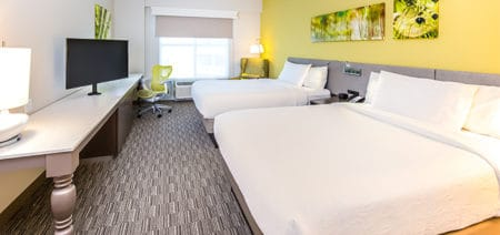 Two Queen Beds Partial Gulf View | Hilton Garden Inn | Fort Walton Beach FL