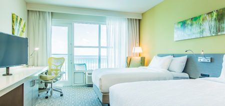 Fort Walton Beach FL Hilton Garden Inn Double Queen Room Feature